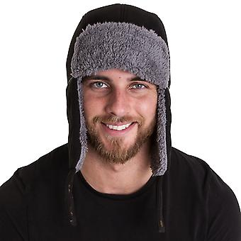 Outdoor Look Mens Hilton Windproof Faux Fur Trapper Hat