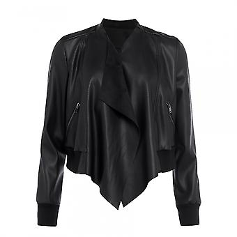 French Connection French Connection Abellana Pu Womens Bomber Jacket
