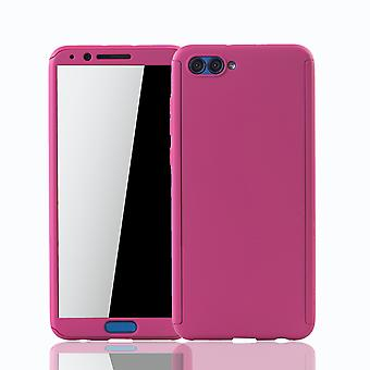Huawei honor view 10 mobile case protection-case full cover tank protection glass pink