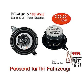 PG audio 87 mm coaxial 8.7 cm coax front car speaker dashboard
