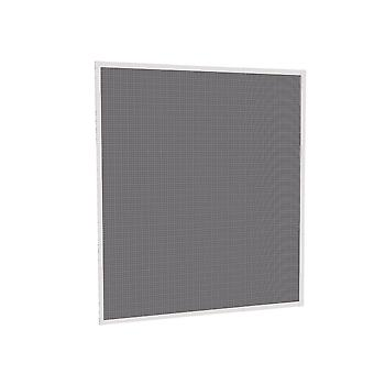 Flying grid insect protection telescopic window Kit 120 x 140 cm in Brown