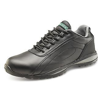 Kliknij przycisk podwójnej gęstości bezpieczeństwa trener obuwia. Czarne. S1P - Cf7Bl