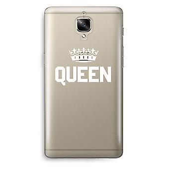 OnePlus 3T Transparent Case (Soft) - Queen black