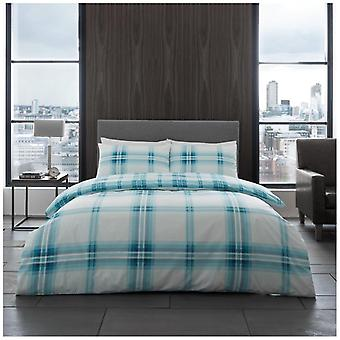Bardsley Check Duvet Quilt Cover Polycotton Printed Bedding Set Pillow Cases