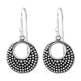 Round Bali - 925 Sterling Silver Plain Earrings - W30067x