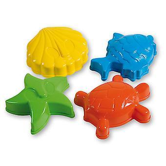 Ensemble de pièces de formes sable animaux 4 Androni