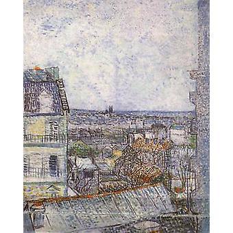 Вид на Париж из комнаты Винсента на улице Лепик, Винсент Ван Гог