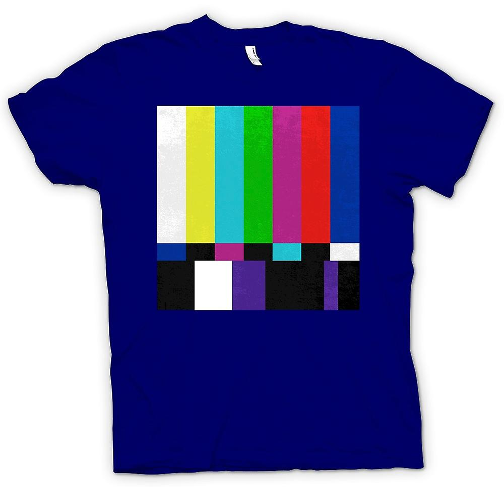 Mens T-shirt - TV Technical Screen 80s Retro
