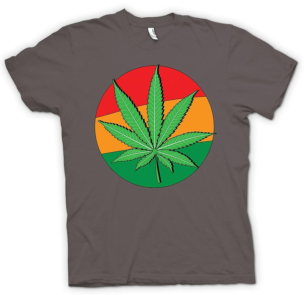 Womens T-shirt - Hash Leaf Jamaica flagga - Cool