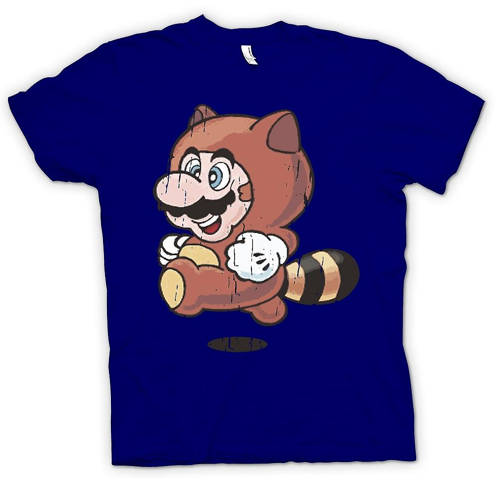 Mens t-shirt - Raccoon Mario - Super Mario ispirato