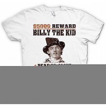 $5000 belohnen Billy The Kid – alte westliche Steckbrief T Shirt