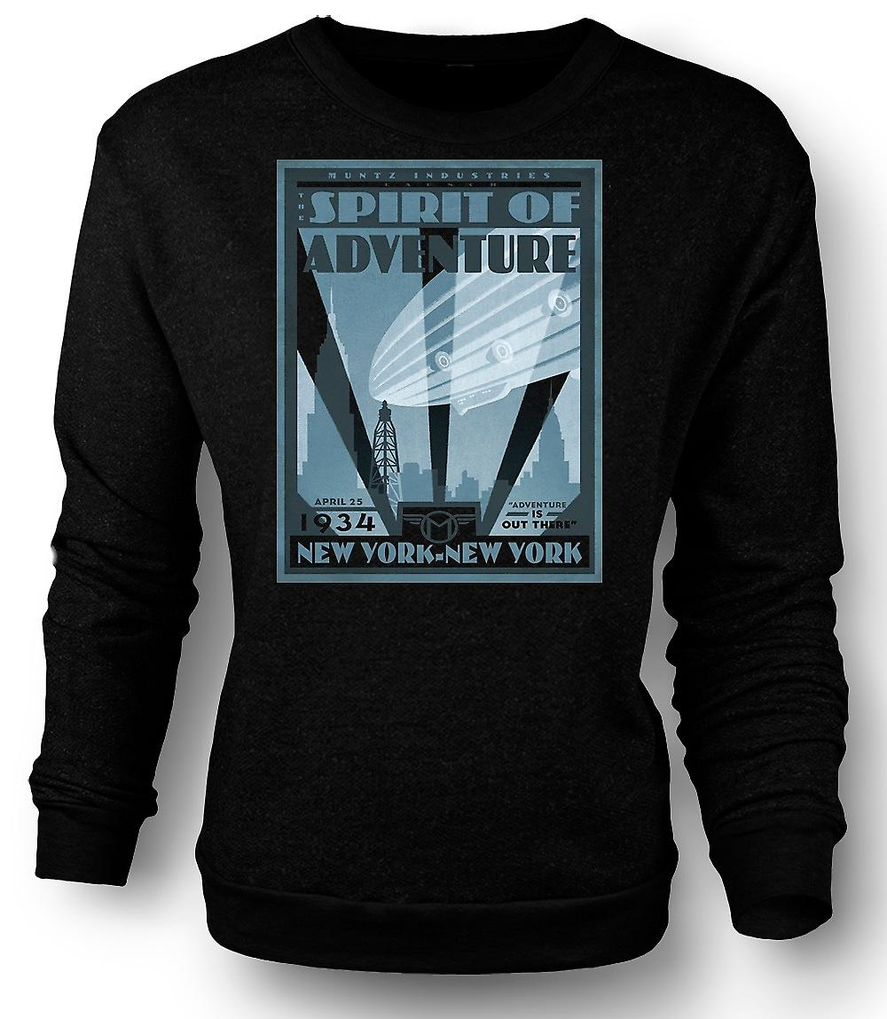 Mens Sweatshirt Muntzs Industries New York - Cool