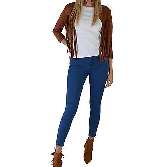 Lovemystyle Indigo Blue High Waisted Skinny Jeans