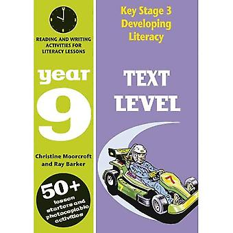 Key Stage 3 Developing Literacy: Text Level: Year 9: Comprehension Activities for Literacy Lessions (Developings)