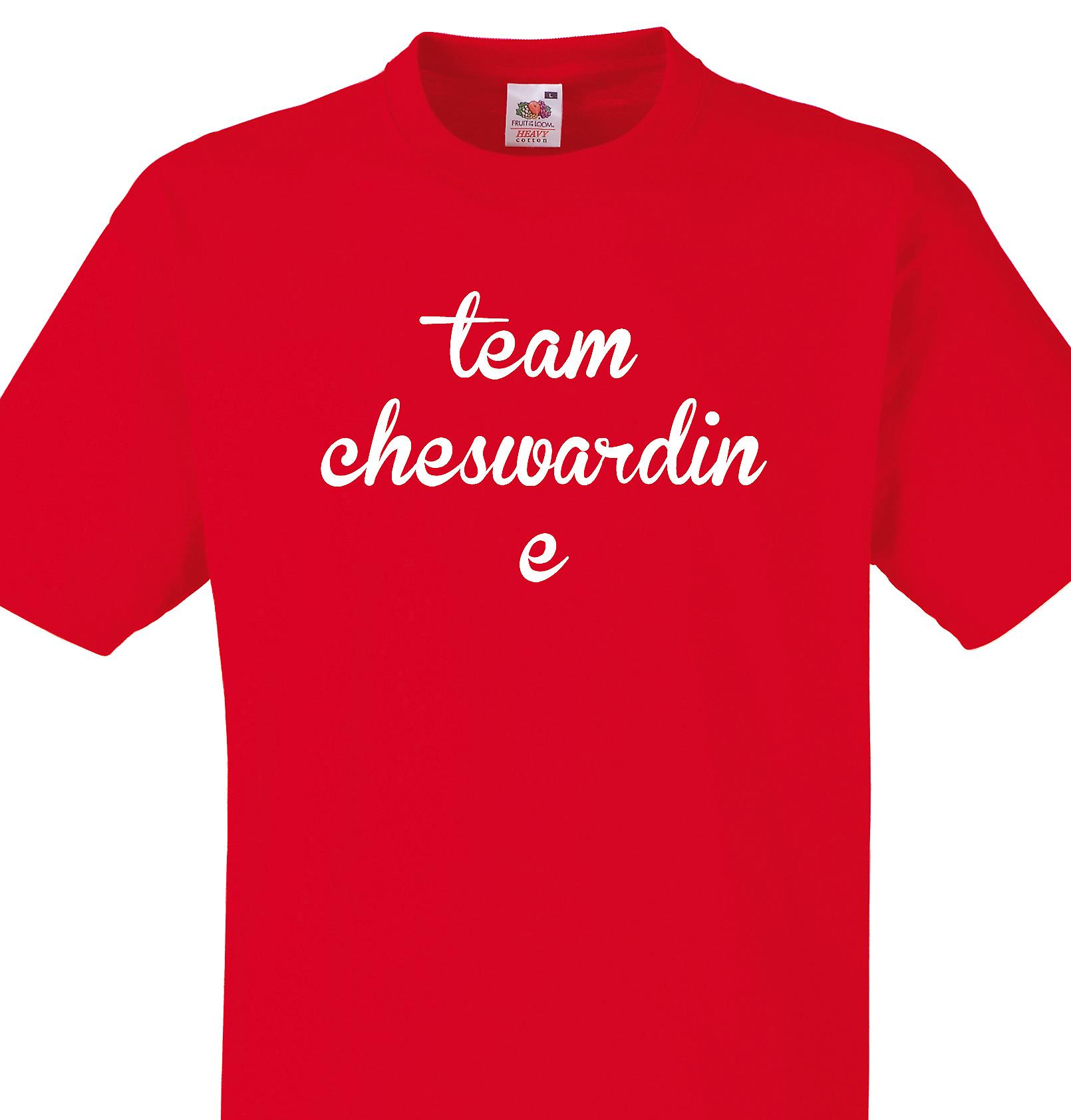 Team Cheswardine Red T shirt