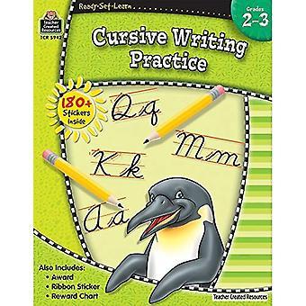 Pratique de l'écriture cursive, Grades 2-3