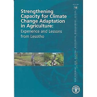 Versterking van de capaciteit voor aanpassing aan de klimaatverandering in de landbouw