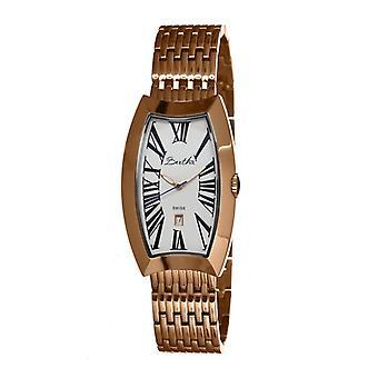 Bertha Laura Ladies Swiss armband Watch w/datum - Rose guld/vit