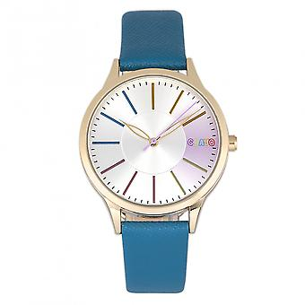 Crayo Gel Leatherette Strap Watch - Blue