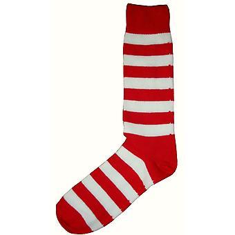 Bassin et marron rayé Midcalf chaussettes - rouge/blanc