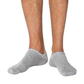 Ashley men's soft bamboo anklet (trainer) socks in grey   By Thought