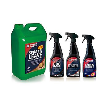 Spear & Jackson Garden Cleaning Bundle | Suitable or all hard suraces