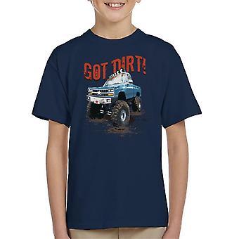 Monster Truck tiene camiseta suciedad infantil