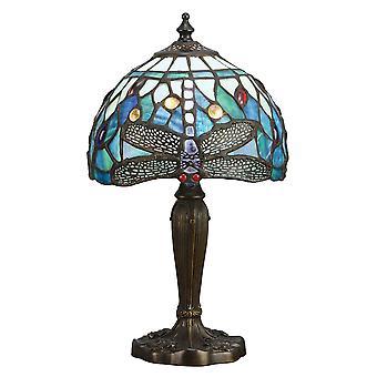 Libellule intermédiaire de Style Tiffany lampe de Table bleue - intérieurs 1900 64088