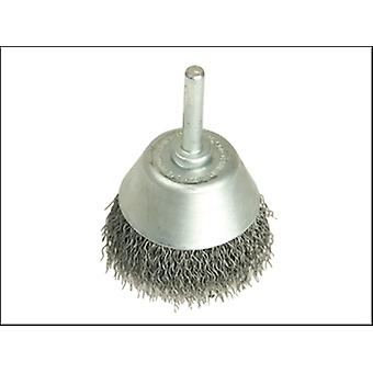 CUP BRUSH WITH SHANK D40 X 15H X .30 WIRE