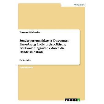 Sonderpostenmrkte vs Discounter. Einordnung in die preispolitische Positionierungsmatrix durch die Handelsfunktion Pichlmeier & Thomas