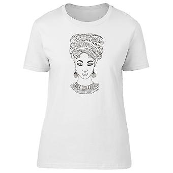 Silhouette Of African Woman Tee Women's -Image by Shutterstock