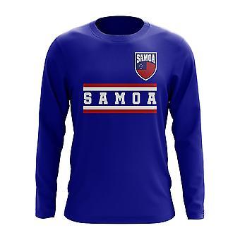 Samoa Core Football Country Long Sleeve T-Shirt (Royal)