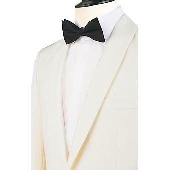 Dobell Mens Tuxedo bianco cena giacca Regular Fit con revers scialle