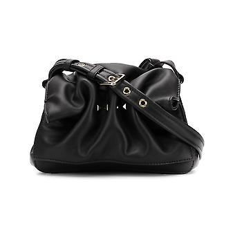 Valentino Mini Bloomy Black Leather Shoulder Bag
