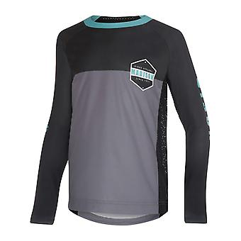 Maglia a maniche lunghe MTB di Madison Cloud Grey-Dark Shadow alpino bambini