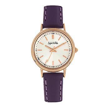 Sophie & Freda Berlin Leather-Band Watch - Purple