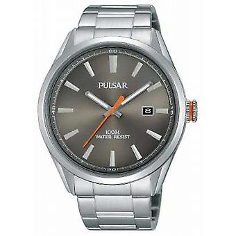 Pulsar Mens Stainless Steel Silver Dial PS9381X1 Watch