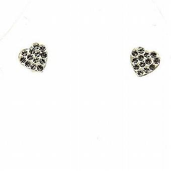 The Olivia Collection Sterling Silver Crystal Heart Stud Earrings