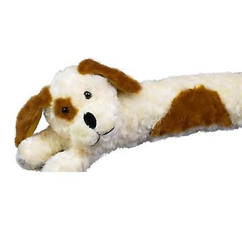 Cream Dog Fluffy Faux Fur Novelty Draught Excluder