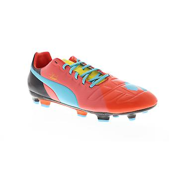 Puma EvoPower Vigor 3 Graphic FG 10318601 Mens Red Athletic Soccer Cleats Shoes