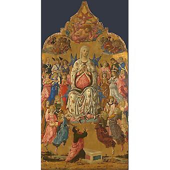 The Assumption of the Virgin,Matteo Di Giovanni,80x40cm