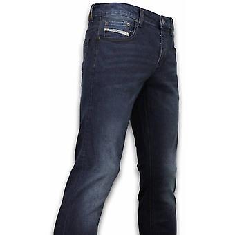 Exclusive Basic Jeans-Regular Fit Casual 5 Pocket-Dark blue