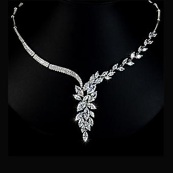 Bridal Collection - Marquise Cut Swiss Cubic Zirconia Necklace
