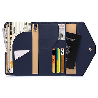 RFID protection-Blue Travel Wallet Passport case