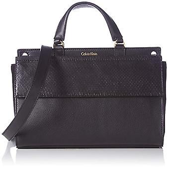 Calvin Klein JeansSHARI SNAKE SMALL FLAP SATCHEL - Sac avec poignée femme noire (Schwarz (BLACK 001 001)) 25x17x12 cm (B x H x T)