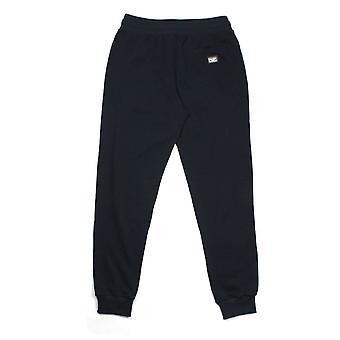 Dolce & Gabbana Metal Logo Patch Sweatpants Navy Blue B0665