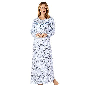 Slenderella ND4113 Femme-apos;s Jersey Floral Cotton Nightdress