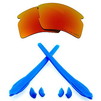 Replacement Lenses Kit Compatible with OAKLEY FLAK 2.0 XL Polarized Red & Blue