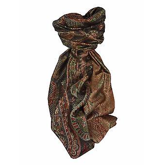 Mens Jamawar Premium Silk Scarf Pattern 4159 by Pashmina & Silk