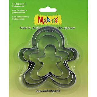 Makin's Clay Cutters 4/Pkg-Gingerbread Man M365-06